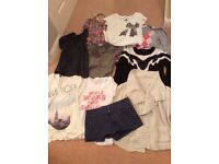 Size 8 tops, cardigans and shorts