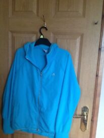 Ladies turquoise Adidas Hoodie size 12 in excellent condition