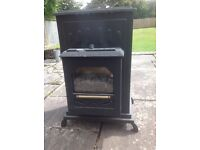 Black gas heater, runs efficiently, used condition