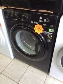 HOTPOINT WMBF742 7kg 1400spin Black Washing Machine with 4 MONTHS WARRANTY