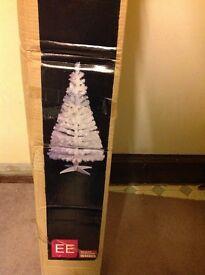 White Fibre Optic Xmas tree 5'