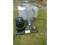 Koi pond filter system.