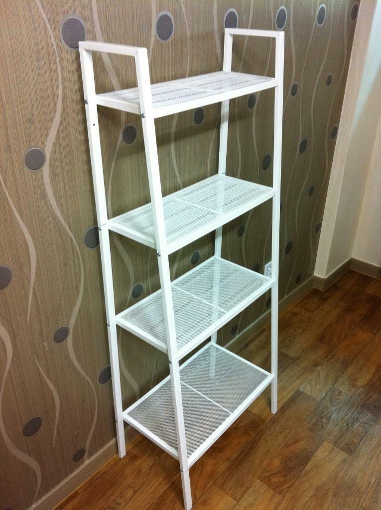 ikea lerberg white metal shelving unit in llandaff cardiff gumtree. Black Bedroom Furniture Sets. Home Design Ideas