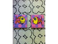 Romero Britto Prints Block Mounted By Niche Framers