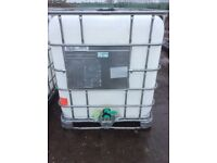 1000lt IBC water tank container food graded used once