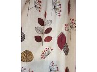 Montgomery Cleo terracotta vintage style curtains. 117cm wide X 229cm drop.