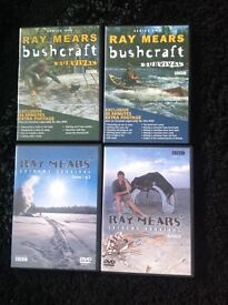 Ray Mears bushcraft survival series 1 and 2 and Ray Mears Extreme survival series 1,2 and 3