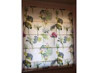 Roman blinds with floral design