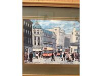 SELECTION OF FRAMED GLASGOW TRAM PRINTS BY BETTY STIRLING £8 EACH