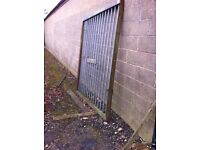 two heavy duty security gates ,galvanised with solid rails