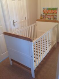 Mamas and Papas Furniture Set - Prairie cot bed wardrobe chest of drawers changing bed