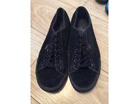 Black Suede Vans - Size 8