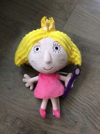 Kids Ben and holly soft toy holly fairy princess
