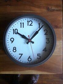 Ikea large brown wall clock