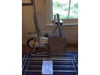 Habitat covered clothes rail/wardrobe, grey with zipped opening