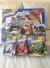 Mint Thunderbirds Tracey Island and Thunderbird Models