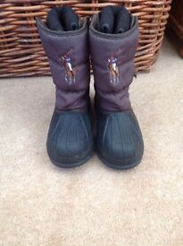 children's boots: Marco Polo size 13 and Mountain Warehouse, size 3 (junior)