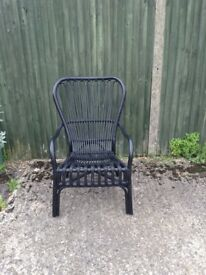 Pair of Ikea Black Whicker Chairs. Buyer to collect