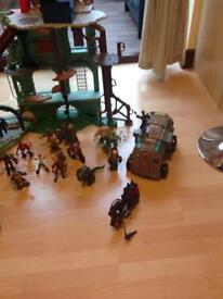 Turtle play house plus figures etc