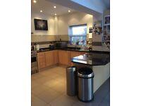 Great Value Maple Kitchen with Black granite worktops and Statement Rangemaster Dualfuel range