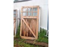 Solid wood garage doors