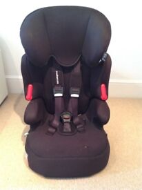 High back booster seat with harness (approx age 9mths+)