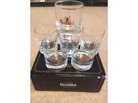 Vintage Glenfiddich whisky tumblers