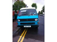 VW T25 1986 petrol 4 berth water cooled campervan turquoise