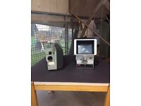 8mm Projector, Editor and Projection Screen! Original and very collectible