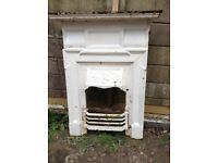 Cast iron fire surround Victorian possibly Edwardian