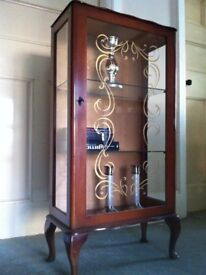 Lovely Vintage display China Cabinet for Up-Cycling / Can Deliver