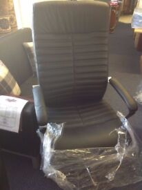 NEW executive tan chairs with diamond detailing on front