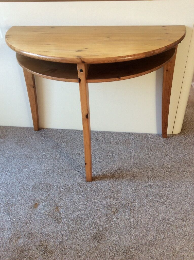 Ikea half circle dining side table desk dressing table for Table circle