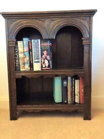 Carved oak bookcase/display case