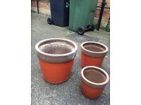 3 x Garden pots