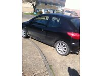 2 litre Peugoet 206 GTI 180bhp Twincam double shift gear box very fast car selling due to new car