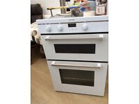 Excellent condition double oven, white , 12 months old Indesit