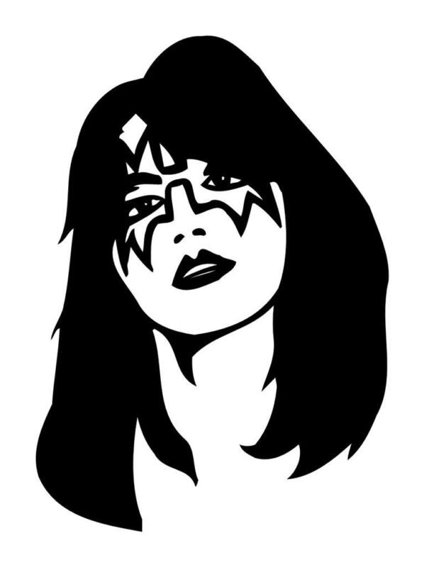 KISS SOLO ACE FREHLEY I PAD COMPUTER LAPTOP VINYL CAR TRUCK WINDOW DECAL STICKER