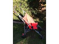 Tesco red umbrella fold pushchair or buggy, hardly used, good condition