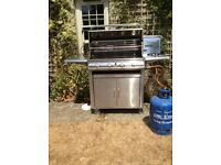 Fire Mountain BBQ, Luxury 4 burner + side burner stainless steel kitchen with rotisserie