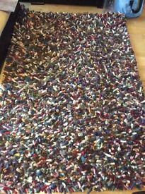 Super chunky Jellybean rug. 100% wool.