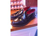 Mens leather black shoes by Ikon size 10