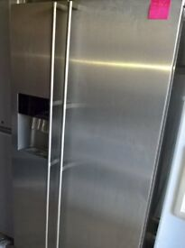 Stainless steel American fridge freezer..ex display Mint Free delivery