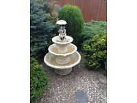 Decorative stone fountain. No pump