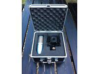 AKG Perception 220 large-diaphragm true condenser microphone. As New/Unused. Complete/w Flight Case