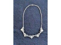 Silver Celtic necklace by Ortak.