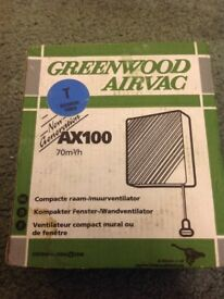 £5 ONO FOR QUALITY UNUSED AND BOXED GREENWOOD EXTRACTOR FAN