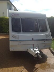 Abbey chess caravan 4/5 birth plus huge awning and all equipment