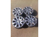 4x vw alloy wheels