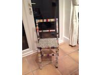 Lovely upcycled statement chair
